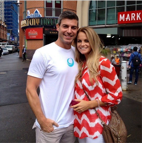 Jeff Schroeder and Jordan Lloyd at Sydney Market