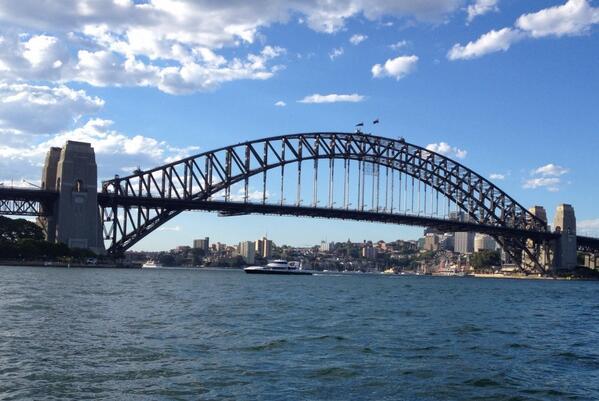 Jeff Schroeder and Jordan Lloyd head to the Sydney Harbour Bridge