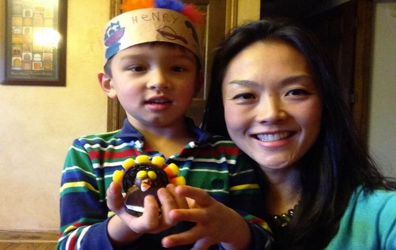 Big Brother 15 Helen Kim and son