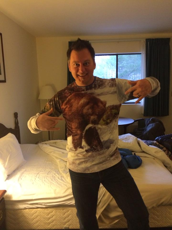 Big Brother Chef Joe Arvin wears the infamous bear shirt