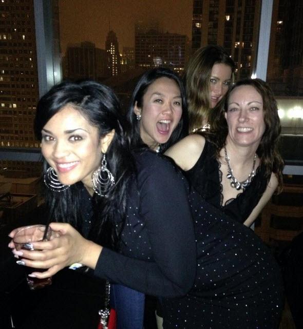 Candice Stewart, Elissa Reilly, Helen Kim and friend