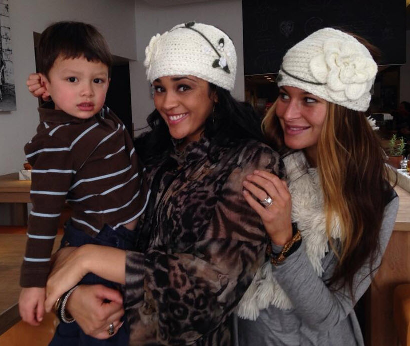 Candice Stewart, Elissa Reilly and Elissa's son