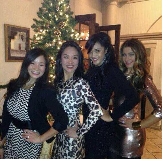 Elissa Reilly, Candice Stewart, Helen Kim and friend