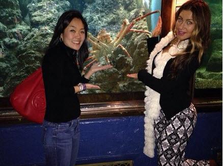 Helen Kim and Elissa Slater get crabby