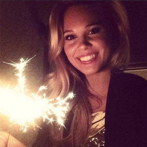 Big Brother 15 Aaryn Gries enjoys a sparkling New Year's