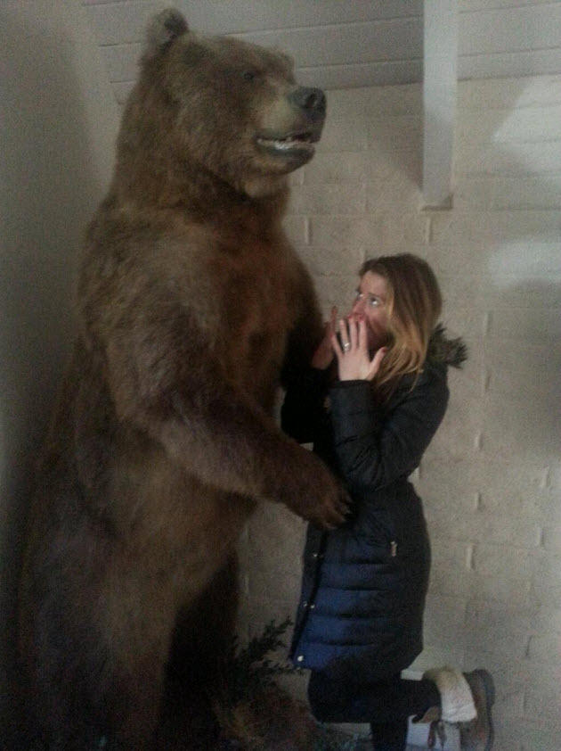 Big Brother 15 Elissa Slater Reilly has a bear of a New Year's Eve