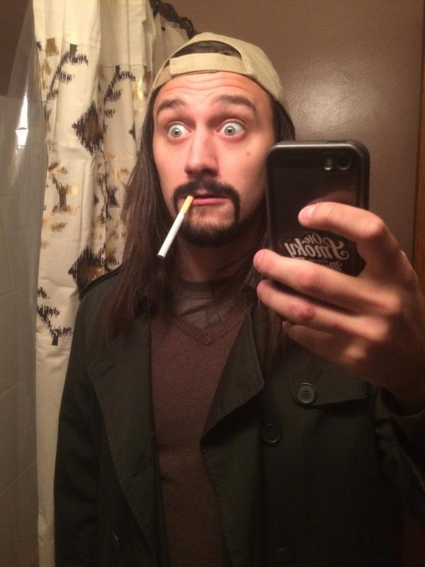 Big Brother McCrae Olson as Silent Bob Halloween