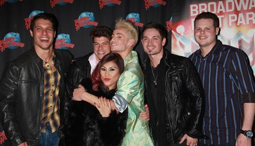 Big Brother 16: Derrick Levasseur, Caleb Reynolds, Frankie Grande, Paola Shea, Cody Calafiore, Zach Rance-Rock of Ages