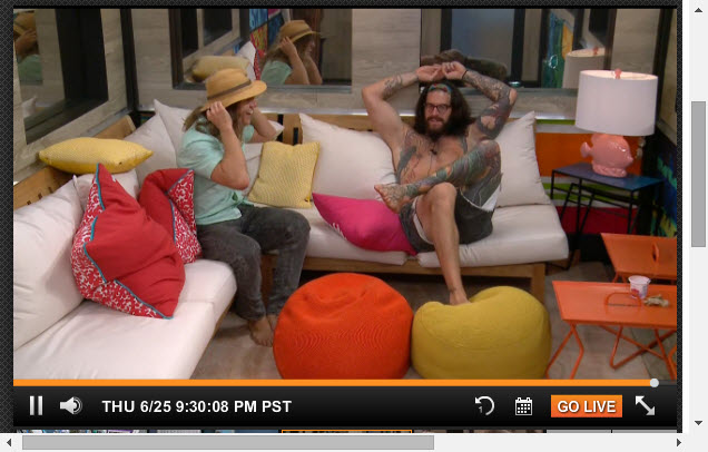 Big Brother Live Feeds  6-25-2015 1