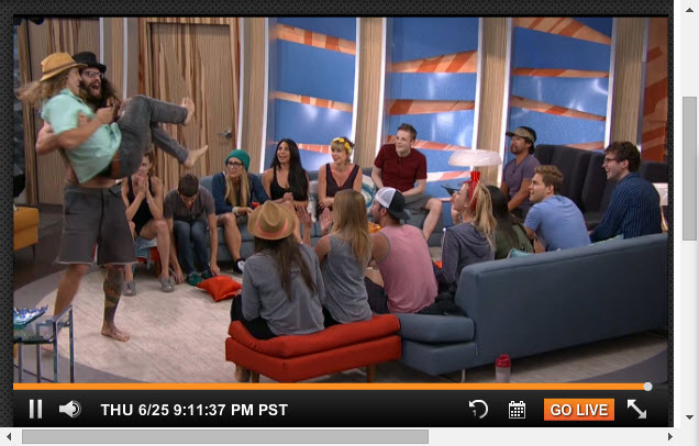 Big Brother Live Feeds  6-25-2015 1